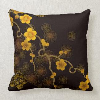 Japanese Flower Design Cushion