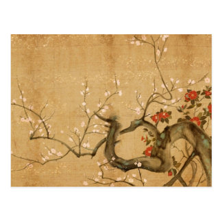 Japanese Flower Garden Postcard
