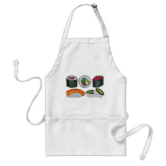 Japanese Food Cooking Cuisine Sushi Roll Rolls Standard Apron