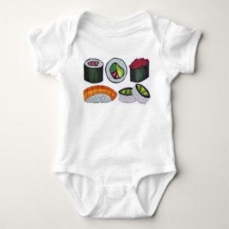 Japanese Food Sushi California Roll Nigiri Foodie Baby Bodysuit