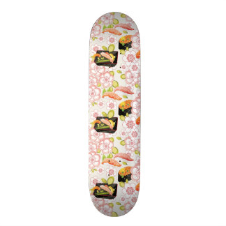 Japanese Food: Sushi Pattern 2 20 Cm Skateboard Deck