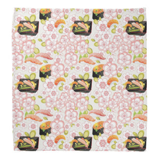 Japanese Food: Sushi Pattern 2 Bandana