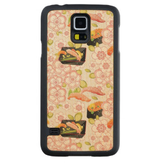 Japanese Food: Sushi Pattern 2 Carved Maple Galaxy S5 Case