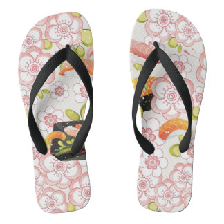 Japanese Food: Sushi Pattern 2 Flip Flops