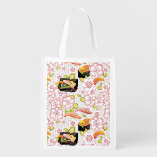Japanese Food: Sushi Pattern 2 Reusable Grocery Bag