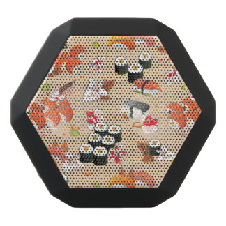 Japanese Food: Sushi Pattern 3 Black Bluetooth Speaker