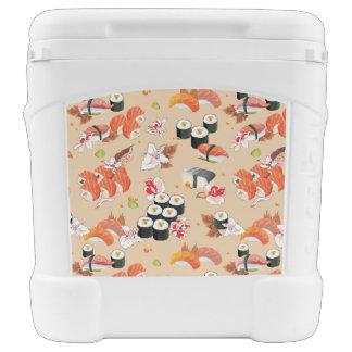 Japanese Food: Sushi Pattern 3 Cooler