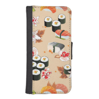 Japanese Food: Sushi Pattern 3 iPhone SE/5/5s Wallet Case