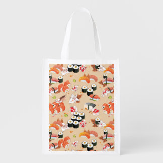 Japanese Food: Sushi Pattern 3 Reusable Grocery Bag