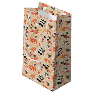 Japanese Food: Sushi Pattern 3 Small Gift Bag