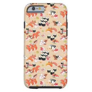 Japanese Food: Sushi Pattern 3 Tough iPhone 6 Case