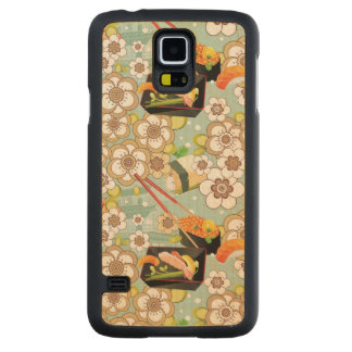 Japanese Food: Sushi Pattern 4 Carved Maple Galaxy S5 Case