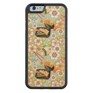 Japanese Food: Sushi Pattern 4 Carved Maple iPhone 6 Bumper Case