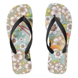Japanese Food: Sushi Pattern 4 Flip Flops