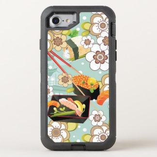Japanese Food: Sushi Pattern 4 OtterBox Defender iPhone 8/7 Case