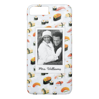 Japanese Food | Sushi Pattern | Add Your Photo iPhone 8 Plus/7 Plus Case