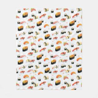 Japanese Food: Sushi Pattern Fleece Blanket