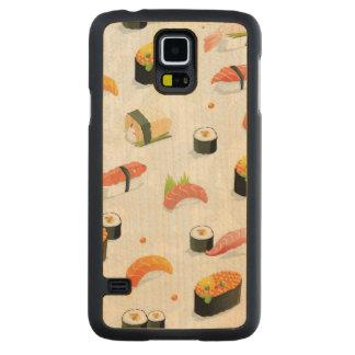 Japanese Food: Sushi Pattern Maple Galaxy S5 Slim Case