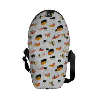 Japanese Food: Sushi Pattern Messenger Bags