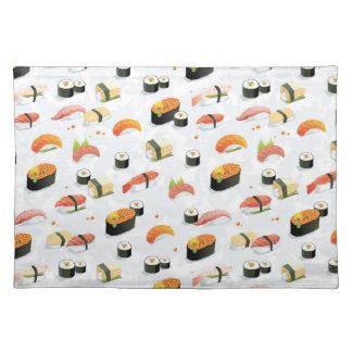 Japanese Food: Sushi Pattern Placemat