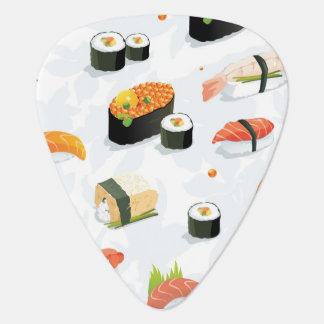 Japanese Food: Sushi Pattern Plectrum