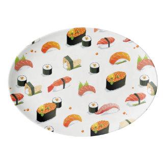 Japanese Food: Sushi Pattern Porcelain Serving Platter