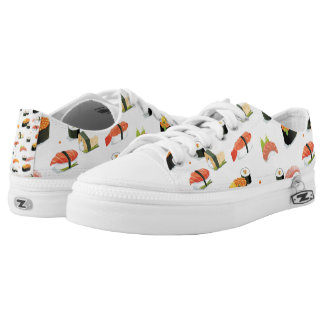 Japanese Food: Sushi Pattern Printed Shoes