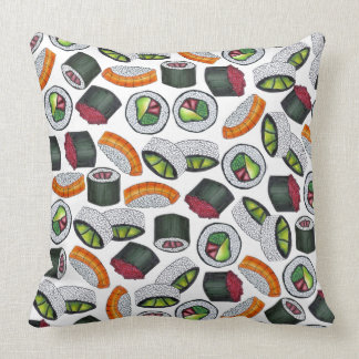 Japanese Food Sushi Roll Rolls Foodie Pillow