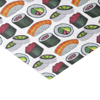 Japanese Food Sushi Roll Rolls Japan Foodie Tissue Tissue Paper