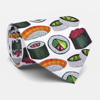 Japanese Food Sushi Tuna Avocado Roll Foodie Tie