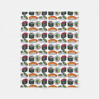 Japanese Food Sushi Tuna Roll Salmon Nigiri Food Fleece Blanket