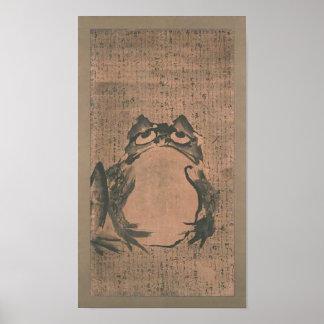 Japanese Frog Art Poster