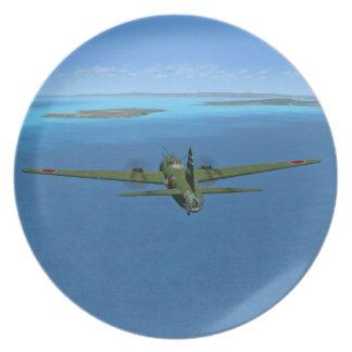 Japanese G4M1 Betty Bomber Plane Plate