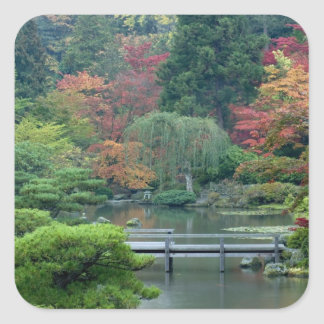 Japanese Garden at the Washington Park Square Sticker