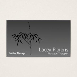 Japanese Garden Bamboo Gradient Business Card