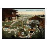 Japanese Garden California Home Repro Vintage 1917