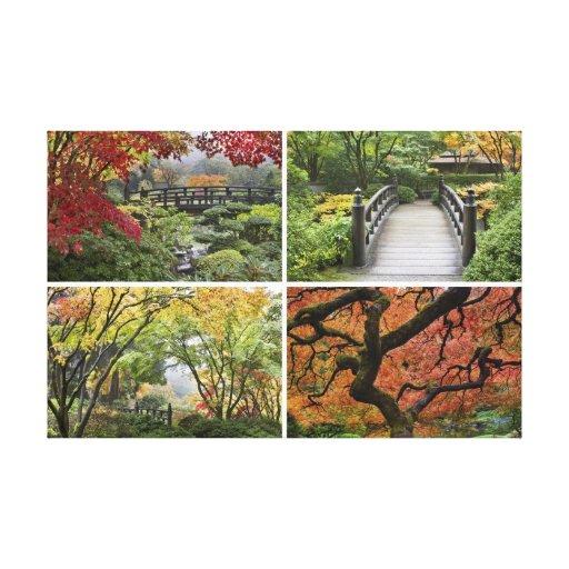 Japanese Garden in Fall Season Canvas Print