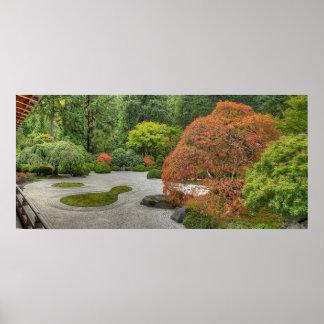 Japanese Garden in Portland Oregon Poster