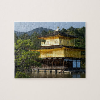 Japanese Garden, Kinkaku-ji Temple, Kyoto, Japan Jigsaw Puzzle