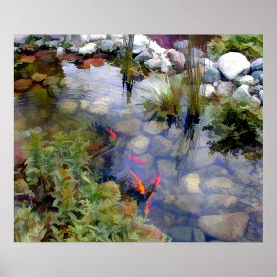Japanese Garden Koi Pond Poster