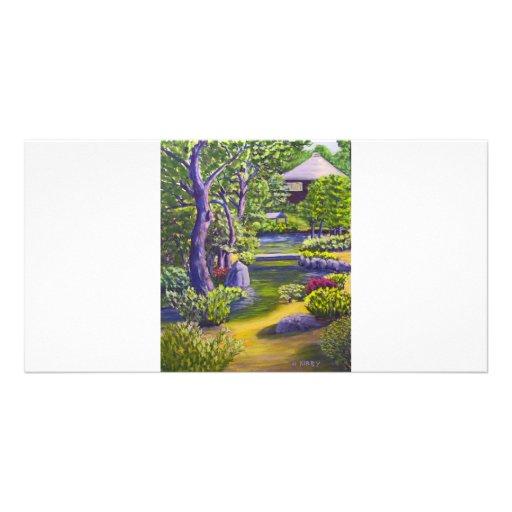 Japanese Garden Custom Photo Card
