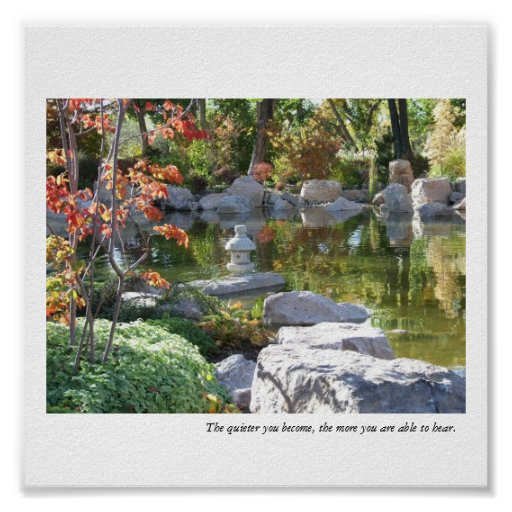 Japanese Garden Pond - The Quieter You Become