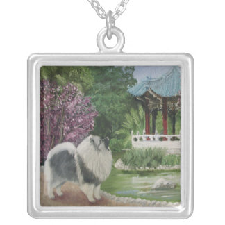 Japanese Garden Silver Plated Necklace