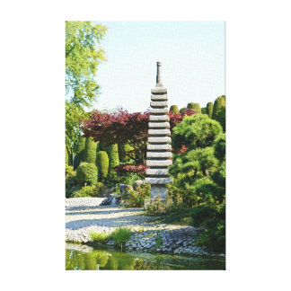 Japanese Garden Wrapped Canvas Stretched Canvas Print