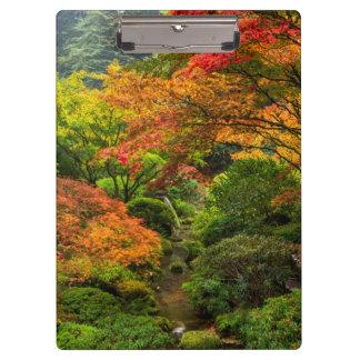 Japanese Gardens In Autumn In Portland, Oregon 2 Clipboard