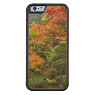 Japanese Gardens In Autumn In Portland, Oregon 2 Carved® Maple iPhone 6 Bumper Case
