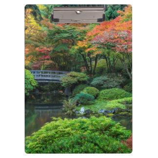 Japanese Gardens In Autumn In Portland, Oregon 3 Clipboard