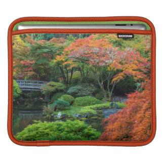 Japanese Gardens In Autumn In Portland, Oregon 3 iPad Sleeve