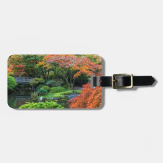 Japanese Gardens In Autumn In Portland, Oregon 3 Luggage Tag
