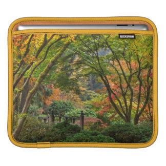 Japanese Gardens In Autumn In Portland, Oregon 4 iPad Sleeve
